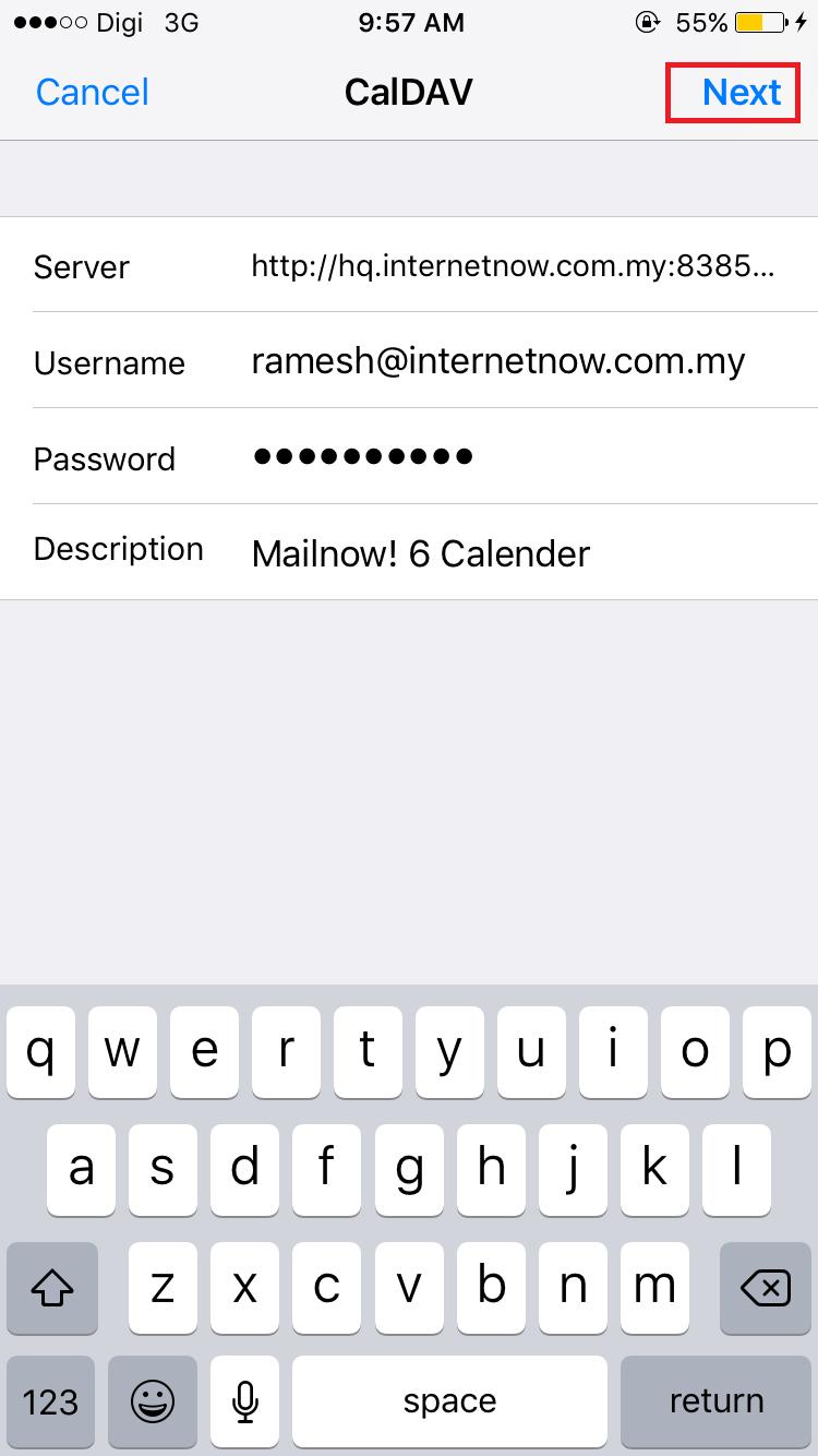 HOW TO] Mailnow! 6 Calendar Configuration for Smartphones