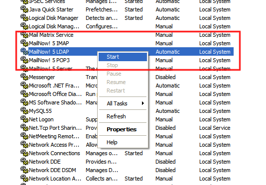 how to start openldap service in linux